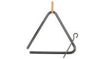 Authentic Western Dinner Triangle Hammered Steel Frontview
