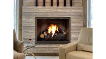 Essex Fireplace Door Installed  Shown With Bottom Draft