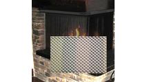 Metaltone Mesh Recessed Corner Fireplace Scree