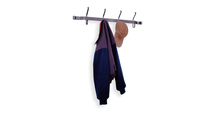 Coat Rack with 4 Double Hooks, Front-view