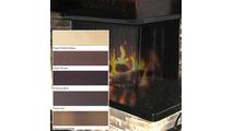 Formed Metal Valance Mesh Recessed Corner Fireplace Screen