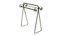 Scroll Quilt Rack Hammered Steel Frontview