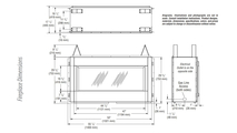 "43"" Linear Vent Free Gas Fireplace Fireplace Dimensions"