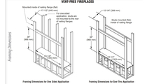 "43"" Linear Vent Free Gas Fireplace Framing Dimensions"