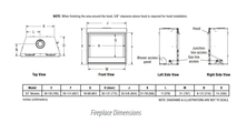 "33"" Superior Direct Vent Gas Fireplace Dimensions"