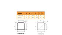 54 Inch Hearth Pad Dimensions