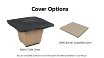 Cover options for the 36 inch Square Cosmopolitan Fire Table