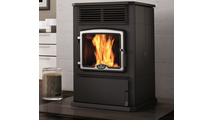 Osburn 5000 Pellet Stove with Brushed Nickel Overlay