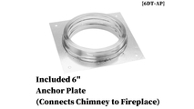 """Included 6"""" Anchor Plate (Connects Chimney to Fireplace) {6DT-AP}"""
