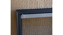 Corner Detail Of Huntley Zero Clearance Fireplace Door