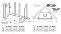 Superior WRT6042 Fireplace Framing Dimensions