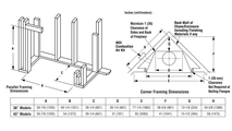 Superior WRT3538 Framing Dimensions
