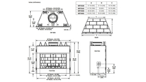 Superior WRT4043 Wood Fireplace Overall Dimensions