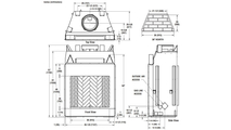 WRT4536 Superior Wood Burning Fireplace Dimensions