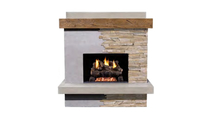 Brooklyn Smooth Vented Outdoor Gas Fireplace