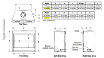 DRT4045 Fireplace Dimensions