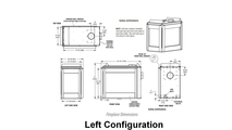 Left Configuration Appliance Dimensions