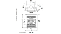 WRT4826 Fireplace Overall Dimensions