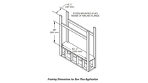 See Through DRL4543 Framing Dimensions