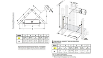 DRL6542 Fireplace, Framing Dimensions