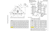 DRT2045 Framing Dimensions