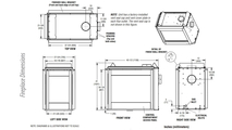 DRT40PF Fireplace Dimensions