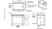 DRT40ST Multi-View Fireplace Dimensions