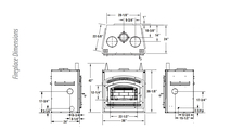WCT6820 Fireplace Dimensions