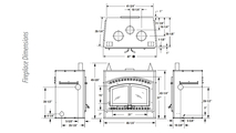 WCT6940 Overall Fireplace Dimensions