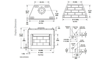 WRE3036 Fireplace Dimensions