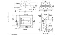 WRE3042 Fireplace Dimensions