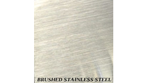 Brushed Stainless Steel finish for fireplace doors