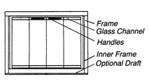 Diagram of the Classic Masonry Fireplace Glass Door