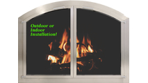 Install the Brushed Stainless Steel arched door in your interior or exterior living space!