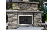 Stainless Steel Zero Clearance Fireplace Door for factory built fireplaces can be installed inside or outdoors!