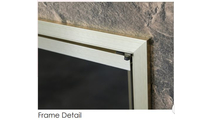 Frame detail of the Yukon Zero Clearance Fireplace Door