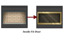 Inside Fit zero clearance fireplace door