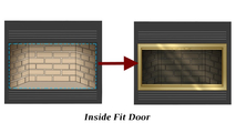Inside Fit zero clearance fireplace door