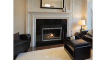 The Apex Masonry Fireplace Door (shown in Satin Nickel) is an affordable, contemporary update. 4 Sided No Damper