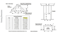 Superior VRT2542 Framing Dimensions