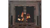 Chesapeake High Efficiency fireplace insert shown in Weathered Brown powder coat finish