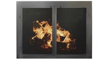Cabinet Masonry Fireplace Door in Satin Black