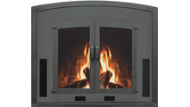 Olympic High Efficiency Fireplace Insert shown in Textured Black powder coat