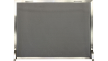 Brushed Stainless Steel Single Panel Fireplace Screen