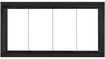 Zion Zero Clearance Fireplace Door - Matte Black - Square handles -  Clearview Bi-fold Doors