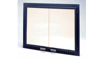 Fullview Air Seal Tempered Glass Masonry Fireplace Door in Black