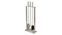 Brushed Stainless Steel Fireplace Tool Set