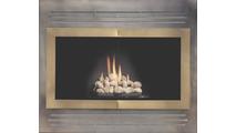 Pinnacle Fireplace Refacing In Antique Black With Vintage Brass Doors