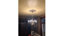 Chandelier Attica Thermoformed PVC Ceiling Medallion