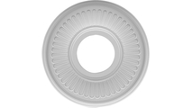 """3 1/2""""ID Round Moulding Berkshire Thermoformed Pvc Ceiling Medallion"""